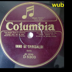 Inno di Garibaldi/Inno di mameli, disc gramofon/patefon-pentru detalii v foto!, Alte tipuri suport muzica