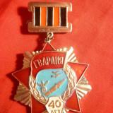 Insemn Militar -40 Ani Formatiuni Garda ale Armatei Rosii URSS