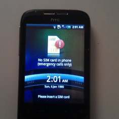 Vand HTC Wildfire stare f buna - Telefon mobil HTC Wildfire, Negru, Neblocat
