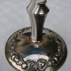 Frumos suport pentru servetele, placat cu argint, Ornamentale