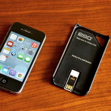 iPhone 4s Apple 16GB Black (Negru) NeverLocked + carcasa cu USB 2Gb, Neblocat