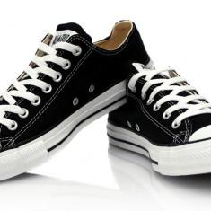 Tenisi Converse All Star- Negri - Tenisi barbati Converse, Marime: 36, 37, 38, 39, 40, 41, 42, 43, 44, Culoare: Negru, Textil