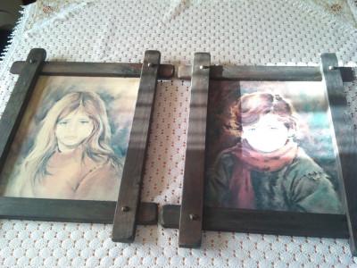Tablouri portret imprimate pe placaj foto