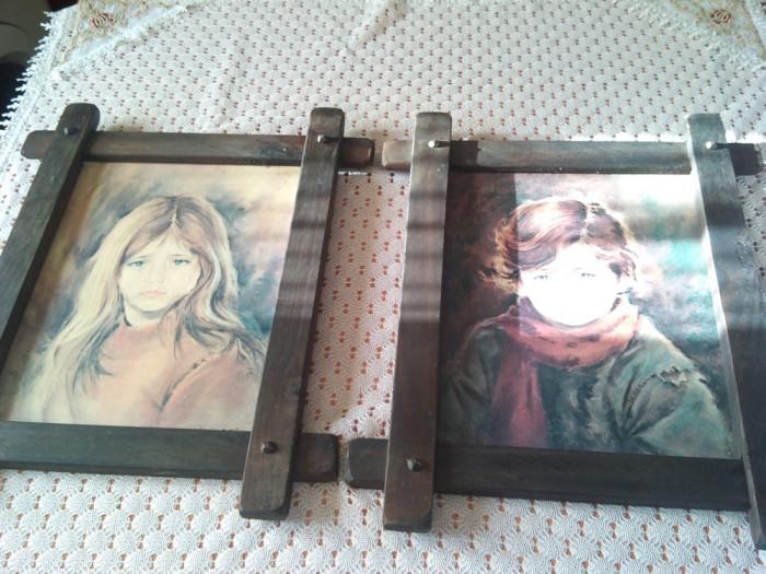 Tablouri portret imprimate pe placaj