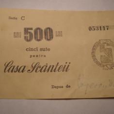 Casa Scanteii Valoare 500 lei Seria C Varianta