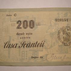 Casa Scanteii Valoare 200 lei Seria C
