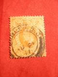 Timbru 4 Pence orange 1911 ,Eduard VII ,Anglia , stamp.