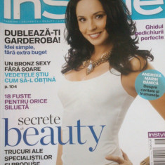REVISTA INSTYLE AUGUST 2009 - Andreea Marin Banica - Revista femei