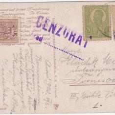 CARTE POSTALA CENZURA CENZURAT , CENZURATA  ARAD 1920