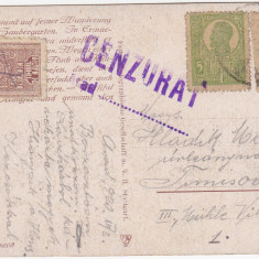 CARTE POSTALA CENZURA CENZURAT, CENZURATA ARAD 1920