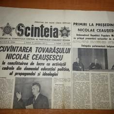 Ziarul scanteia 10 septembrie 1977 - cuvantarea lui ceausescu