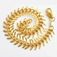 Bratara filata/placata cu aur 14k gold filled 19 cm, noua+saculet cadou - Bratara placate cu aur pandora