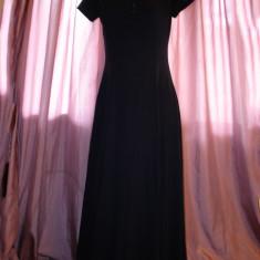 Rochie bleumarine Laura Ashley - Rochie de zi, Marime: M, Maxi, Scurta, Bumbac