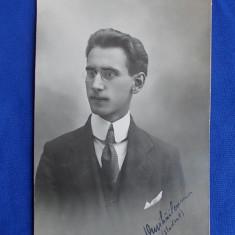 FOTOGRAFIE VECHE TIP CARTE POSTALA * STUDENT - FOTO-SPLENDID N.BUZDUGAN - BUCURESTI - 1918