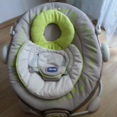 Chicco Sezlong cu Vibratii JOLIE 0m+ Leagan Balansoar - Balansoar interior Chicco, 0-6 luni, Textil, Verde