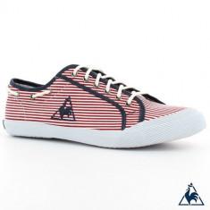 44_adidasi originali barbati Le Coq Sportif_tenisi_din panza_rosu_in cutie - Tenisi barbati Le Coq Sportif, Textil