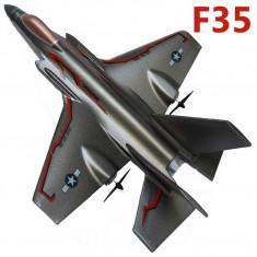 SUPER AVION RADIOCOMANDAT F35 DE MARE DIMENSIUNE, TELECOMANDA R/C FULL CONTROL, AVION DE VANATOARE. - Avion de jucarie, Alte materiale, Unisex