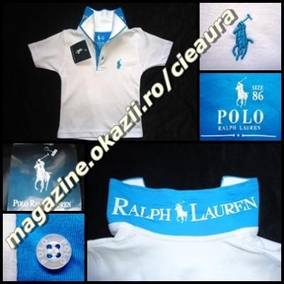 frumuseţe calitate superioară transport gratuit TRICOU firma brand POLO by RALPH LAUREN COPII VARSTA 14-15 ANI ALB ...