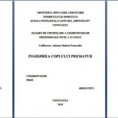 LUCRARE DE LICENTA AMG INGRIJIREA NOU NASCUTULUI PREMATUR (+ PREZENTARE)