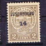Timbre LUXEMBURG 1919-21 = STEMA DE ARME CU SUPRATIPAR, MNH