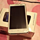 Alcatel One Touch X'Pop - Telefon Alcatel, Alb, Neblocat, Dual core, 2 GB, 5.5''