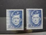 GERMANIA 1964 -ANIVERSARE JOHN F. KENNEDY  -STAMPILAT+NESTAMPILAT