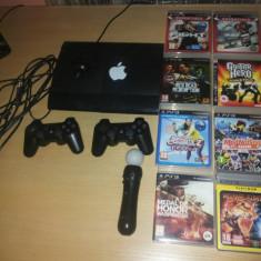 PS3 ultra slim+8 jocuri+2 controllere+PS Move+cablu HDMI+cont PSN - Cablu PC Sony