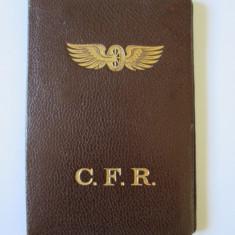 CARTE DE IDENTITATE CFR CLASA I DIN 1935 CU STAMPILA SI SEMNATURA MINISTRULUI - Pasaport/Document