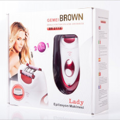 Epilator Braun 2in1 Gemei Brown BR-2118-PRODUS NOU
