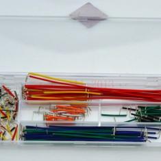 Kit cabluri de tip jumper (140 buc) pt placi de test breadboard