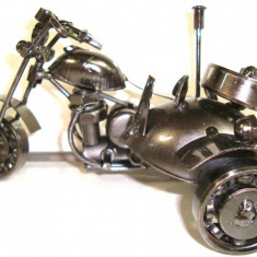 356-8 Motocicleta cu atas Figurina tehno metal - 16x10x10 cm