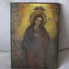 SFANTA MARE MUCENITA MARINA semnata datata - Icoana pe lemn