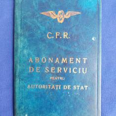 ABONAMENT CFR DE SERVICIU PENTRU DL.C.RASCANU,G-RAL AD-TIV MINISTERUL DE INTERNE - 1934