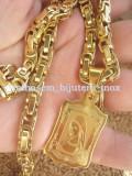 Lant  +medalion  INOX placat =70 ron