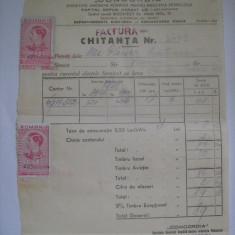 Documente, factura, chitanta-plata consum electric, Concordia Societate Anonima-Departamentul Electrica - Exploatarea Sinaia - anul 1943