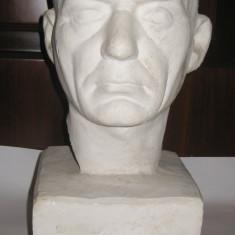 Statuie bust din ipsos Cap de filosof grec sculptura mare 45cm inaltime