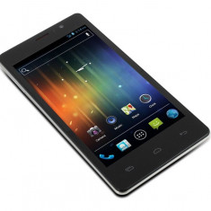 ...OKAZIE...SUPER DUAL SIM POINT OF VIEW -MOB 5045 - Telefon mobil Dual SIM, Negru, 4GB, Neblocat, Quad core