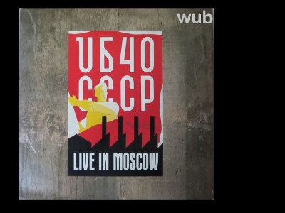 UB40, Live in Moscow, disc vinil/vinyl A&M Records, USA, 1987, R-144329; stare excelenta! foto