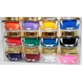 KIT set 12 gel color geluri uv colorate, Gel colorat