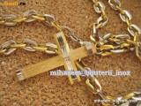 Lant +medalion inox