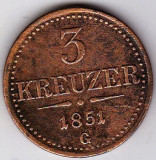 Transilvania Ungaria Austria SUPERRARITATE 3 Creitari,Krajczar,Kreuzer 1851 G = Baia Mare,COTATIA INCEPE LA 65 euro !!!