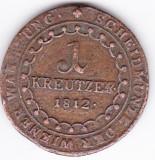Transilvania,Austria,Ungaria,1 kreuzer kreutzer 1812 E Alba Iulia rar, Europa