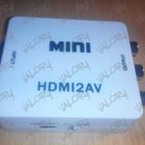 Convertor semnal HDMI la RCA ( digital la analog laptop PC AV ) NOU - Adaptor interfata PC
