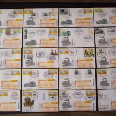 Lot de F.D.C-uri si plicuri cu stampile speciale, 71 de buc.10 Austria, 61 Germania.