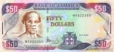JAMAICA █ bancnota █ 50 Dollars █ 2008 █ P-83e █ UNC █ necirculata