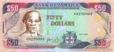 JAMAICA █ bancnota █ 50 Dollars █ 2004 █ P-83b █ UNC █ necirculata