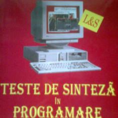 Teste de sinteza in programare -Bacalaureat la informatica (Colectiv) - Teste Bacalaureat