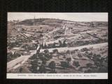 Carte postala necirculata,din 1910.Jerusalem,muntele cu maslini.Reducere!