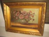 Pictura ulei pe panza natura statica semnata MARTIN, perioada 1900.
