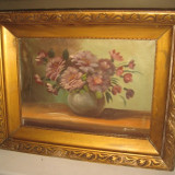 Pictura ulei pe panza natura statica semnata MARTIN, perioada 1900. - Pictor strain